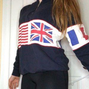 Brandy Melville Flag Sweatshirt